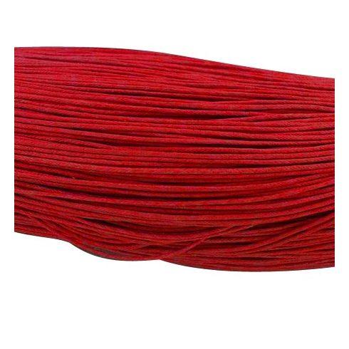 Viaszolt szál 0,7 mm-es - piros