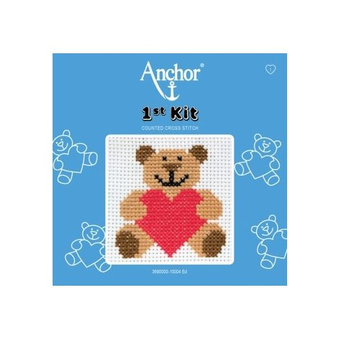Anchor 1st Xszemes kit - maci szívvel