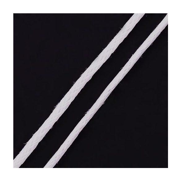 Viaszolt szál 0,7 mm-es - fehér