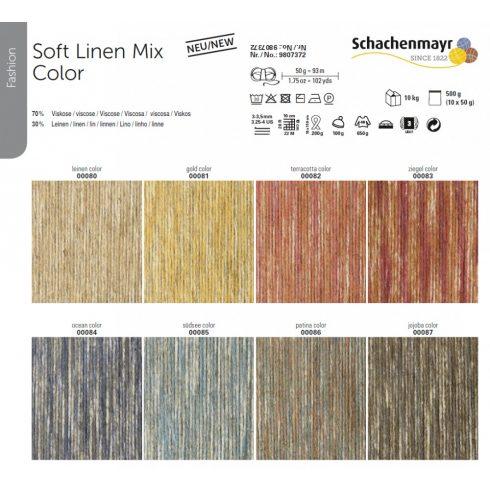 Soft Linen mix color rendelhető fonal