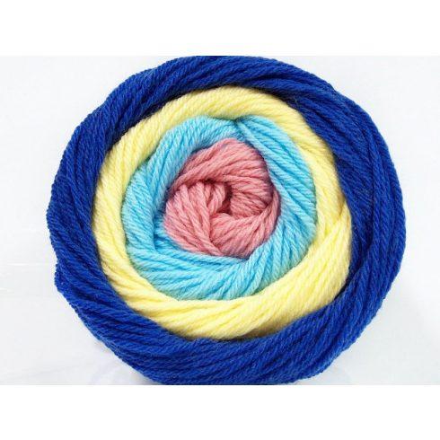 Cakes wool - kék-sárga-sötétkék-lazac