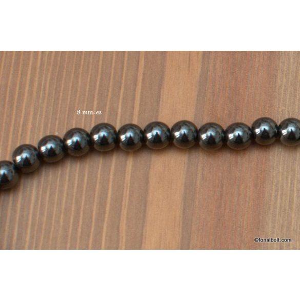 Hematit gyöngy 8 mm