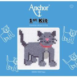 Anchor 1st Xszemes kit -  szürke cica