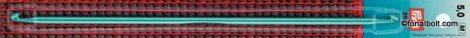 Kétvégű tuniszi horgolótű 25 cm