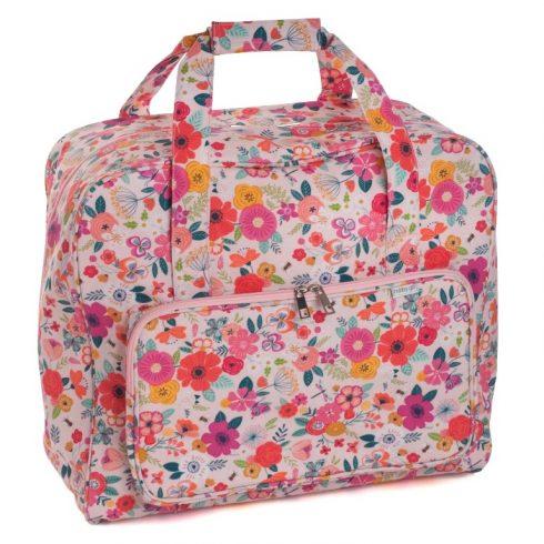 Virágmintás varrógép táska - rendelésre