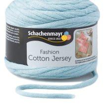 Cotton jersey - jégkék