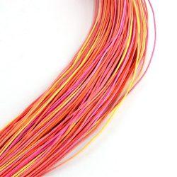 Viaszolt szál 1 mm-es - színes - narancsos