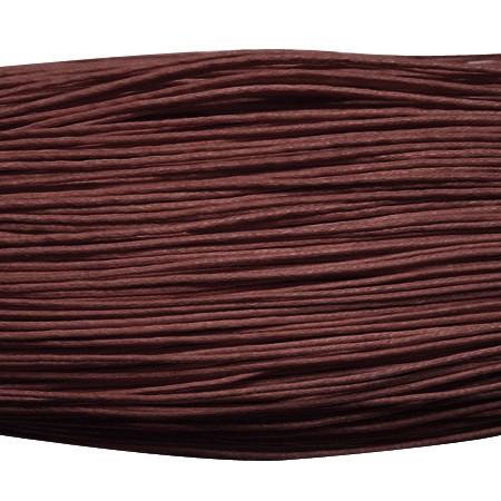 Viaszolt szál 0,7 mm-es - bordós barna