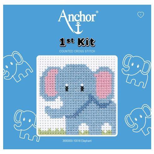 Anchor 1st Xszemes kit - elefánt