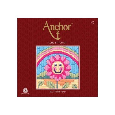 Anchor hosszúöltéses hímzőkészlet - virág AKL13