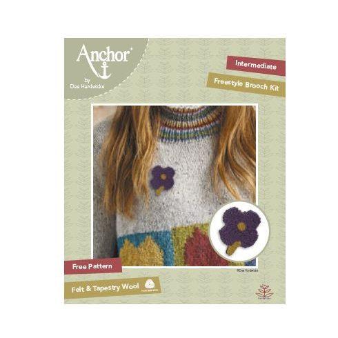 Anchor virág bross kit - lila