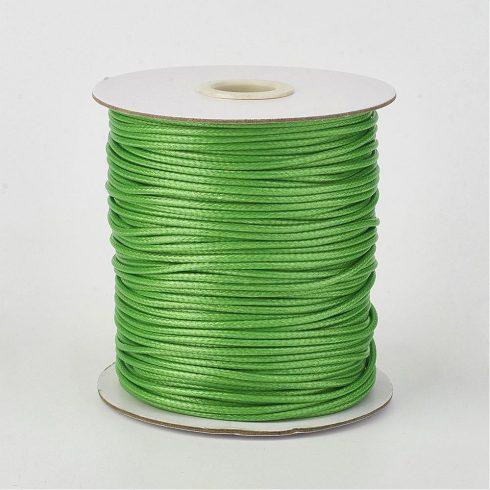 Viaszolt poliészter kordszál 0,5 mm - zöld