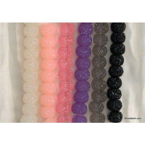 Finom színű gyöngy Shamballa karkötőhöz