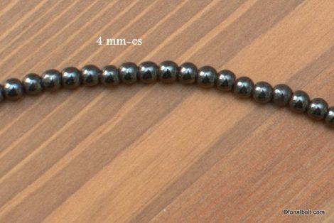 Hematit gyöngy 4 mm