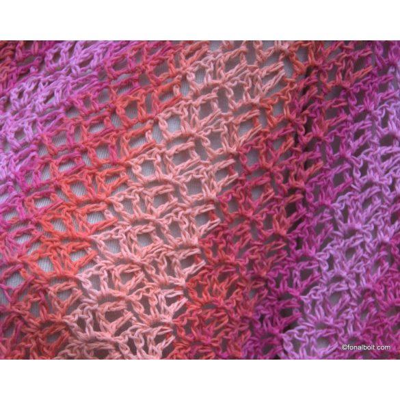 Pink és narancs - 2018 színkombinációja egy kendőben
