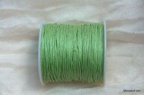 Viaszolt szál 1 mm-es - világos zöld