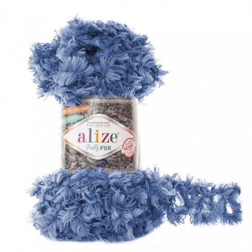 Puffy Fur fonal - kék
