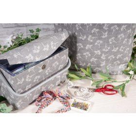 Varrókosár, kézimunka doboz, kézimunka táska