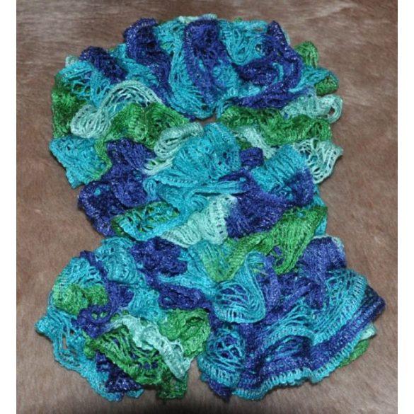 Frilly sálfonal - kékes, türkiszes színekben
