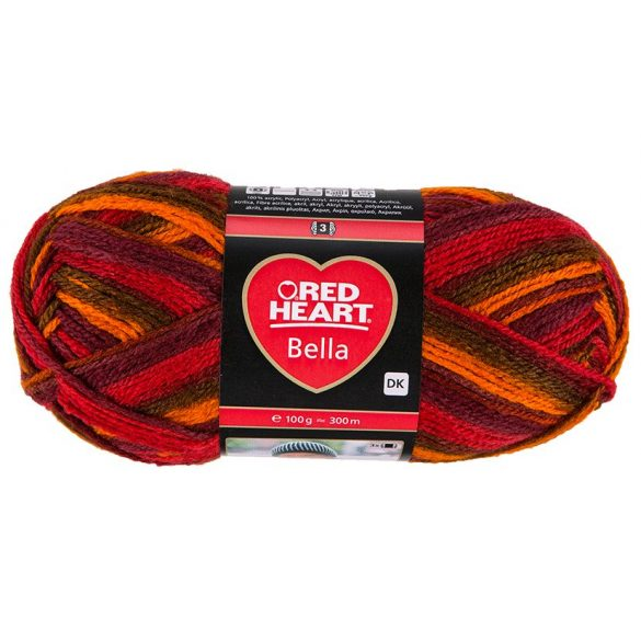 Red Heart Bella fonal - passion color - 1005