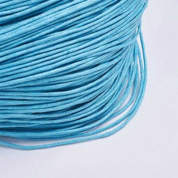 Viaszolt szál 1 mm-es - világos türkisz