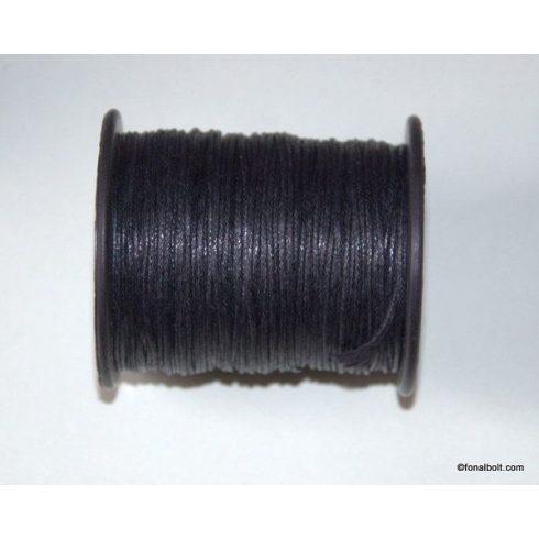 Viaszolt szál 1 mm-es - fekete (viaszos szál)