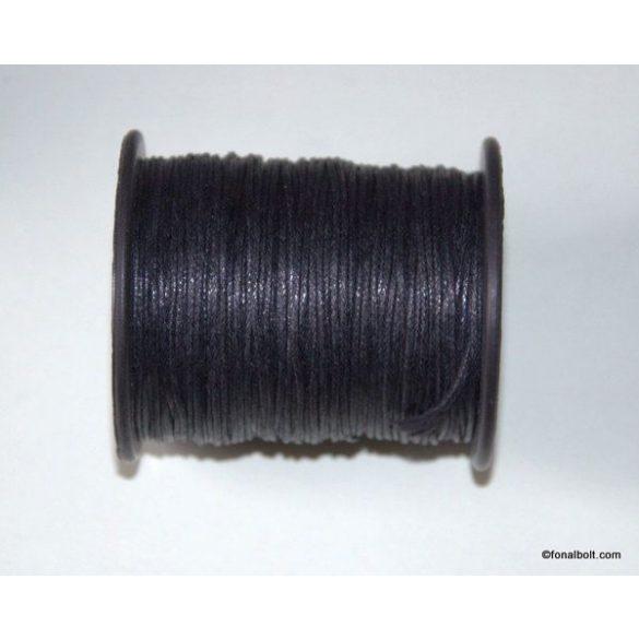 Viaszolt szál 1 mm-es - fekete