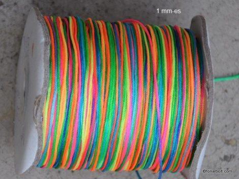 Színes nylon szál, 1 mm-es