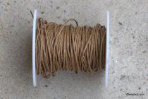 Viaszolt szál 1 mm-es - Barna