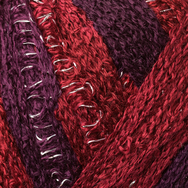 Frilly sálfonal - lilás-bordós színek